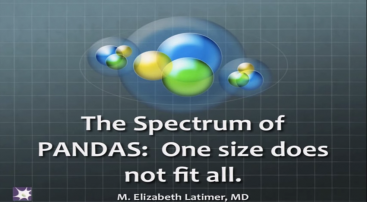 DR. BETH LATIMER PANDAS – One SIze Does Not Fit All